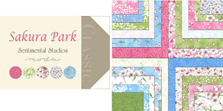 Moda SAKURA PARK Quilt Fabric by Sentimental Studios
