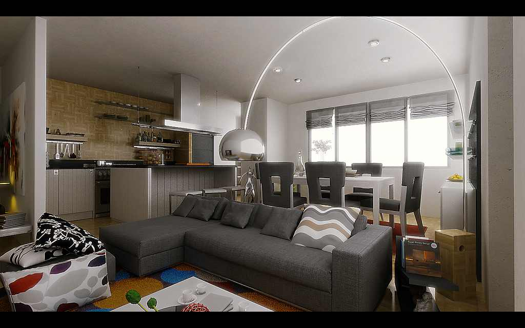 Living Room And Dining Room Together 2014 Room Design Inspirations