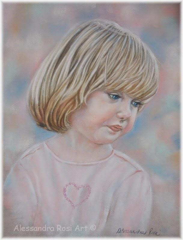 child portrait painting, girl's painted portrait, order an original portrait painting