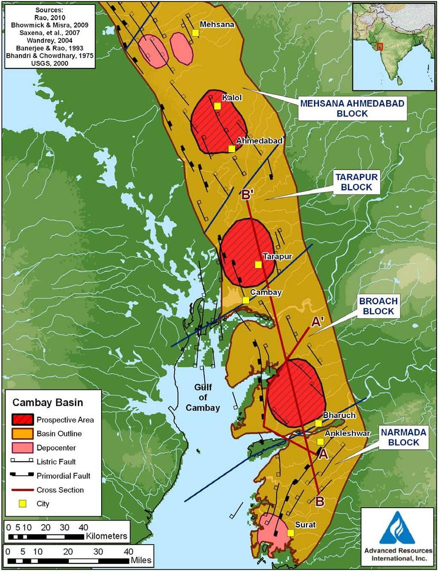 India  Frack Free Rocks - Shale gas map usa