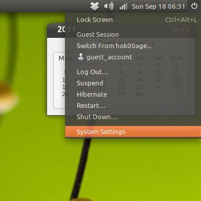 Mengakses Control Center di Ubuntu