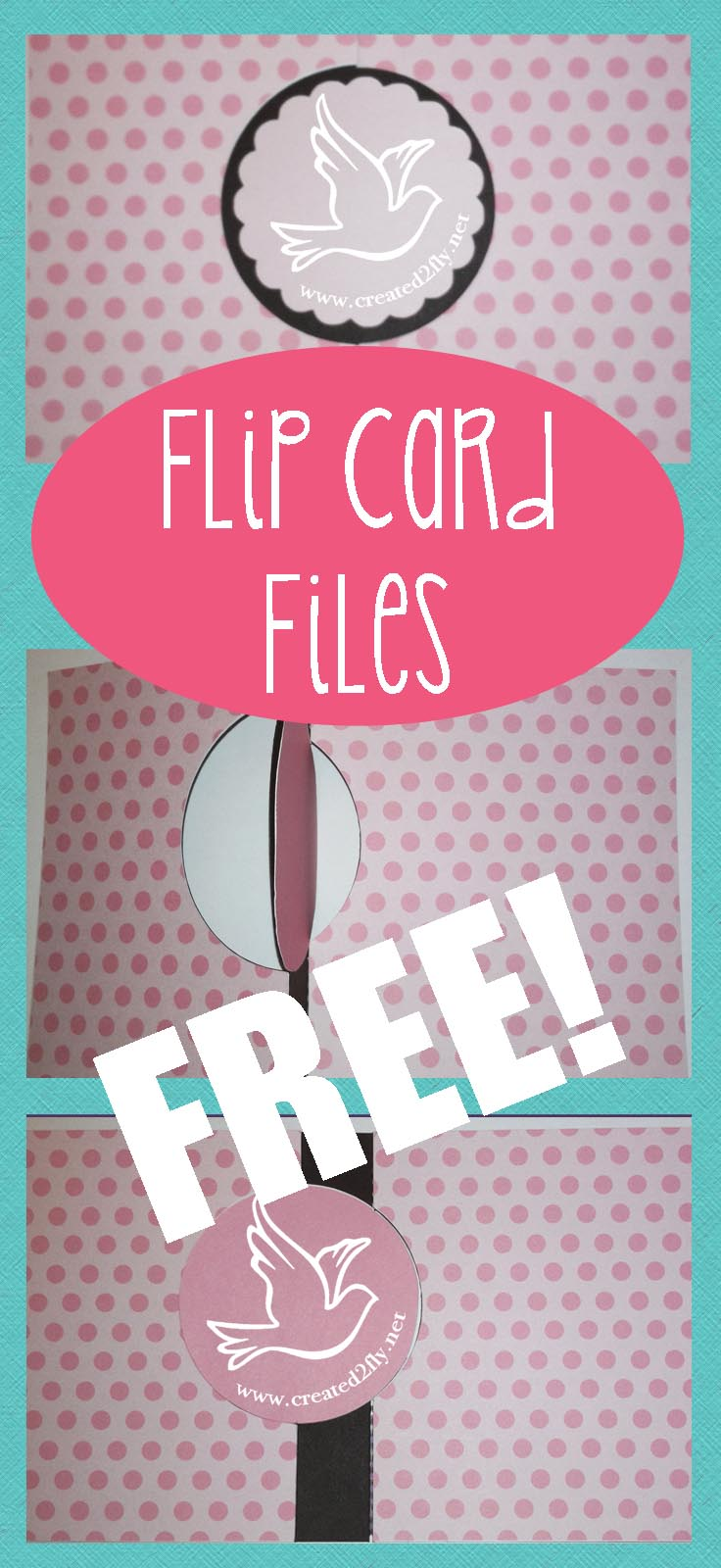 Free Flip Card Files for Silhouette Studio | www.created2fly.net