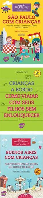 Livros da coleção Crianças a Bordo da Editora Pulp