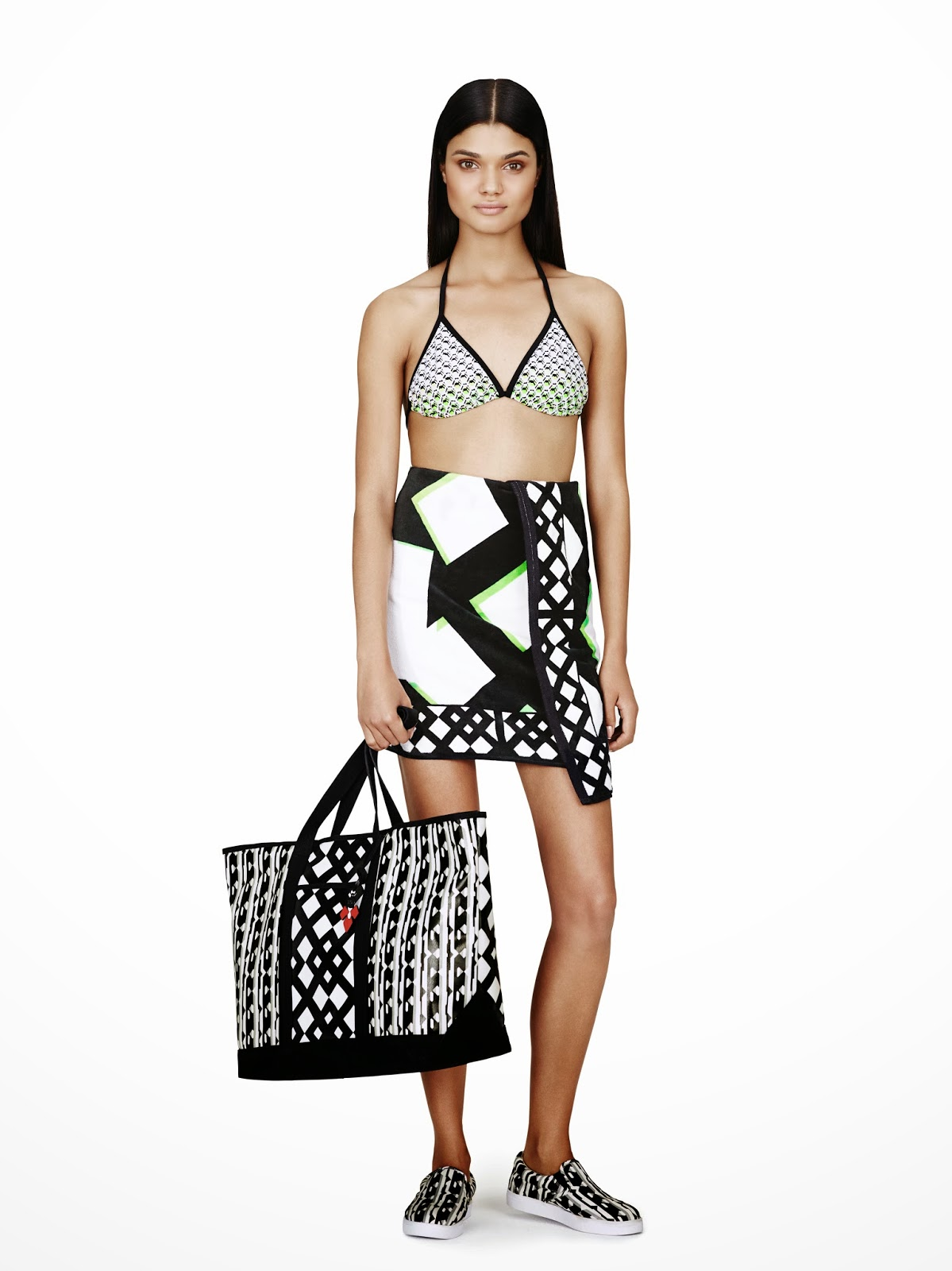 Peter-Pilotto-Target, black-and-white, swimwear, Spring-Summer-2014