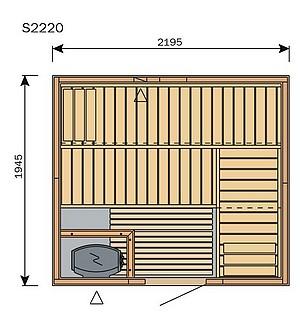 sante dimensions des saunas. Black Bedroom Furniture Sets. Home Design Ideas