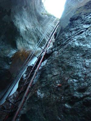 cea mai inalta scara din Canionul Sapte Scari, Muntele Mare