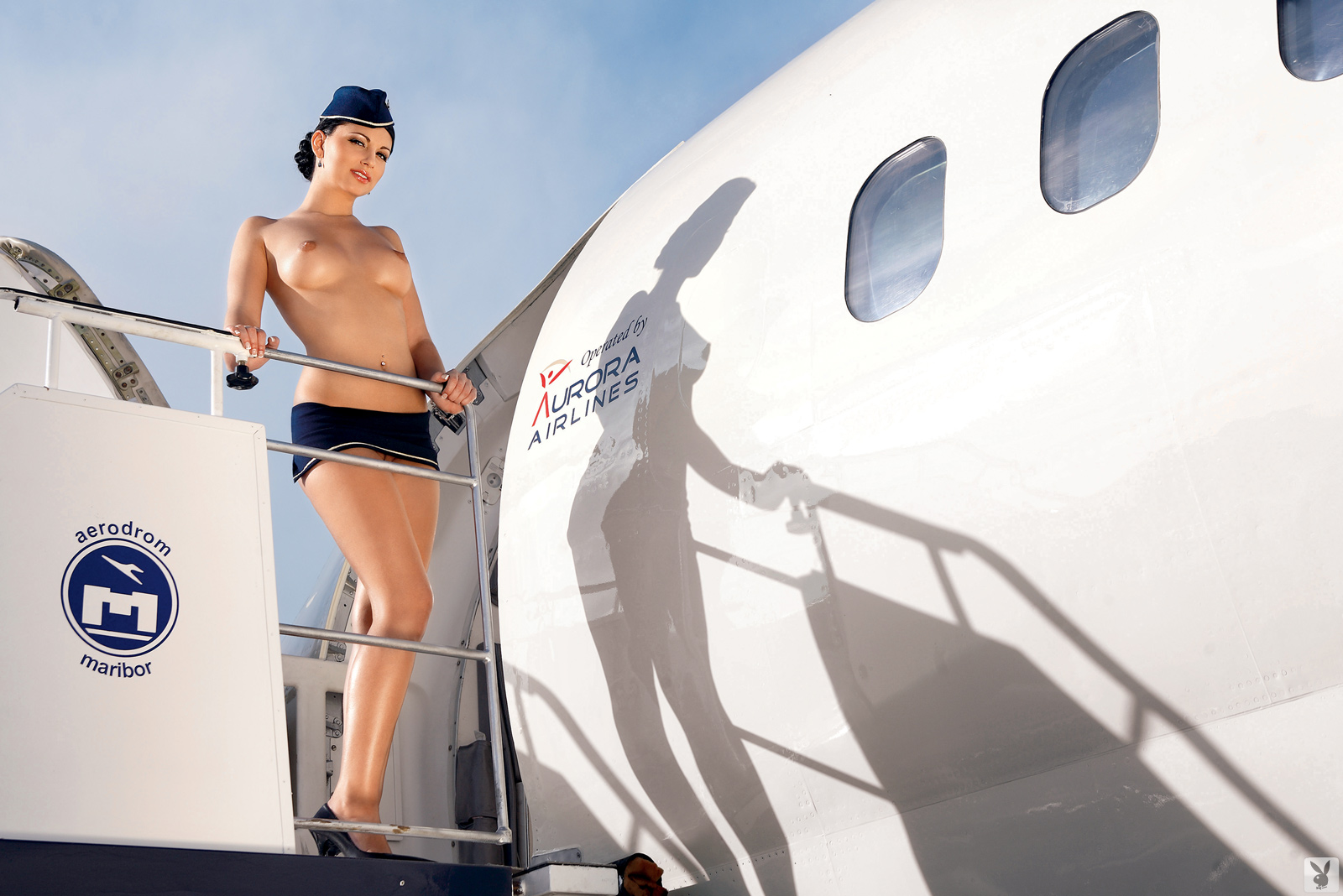 Air hostess helps out 8