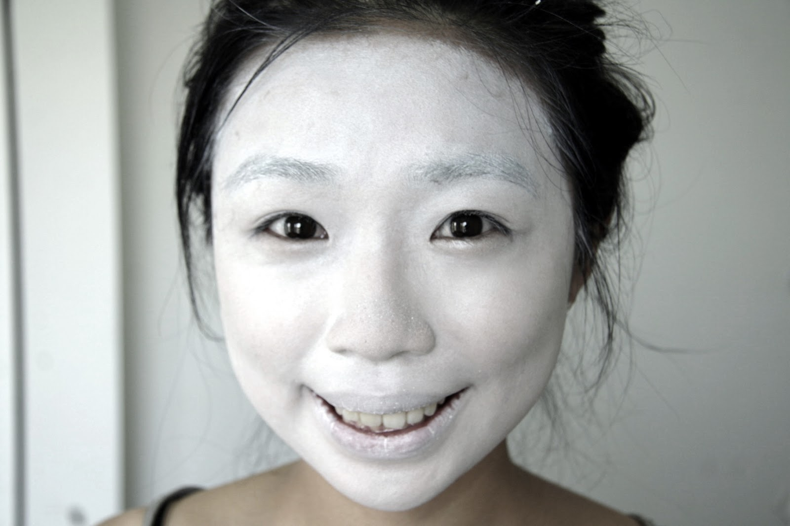How To Make White Face Paint With Baby Powder