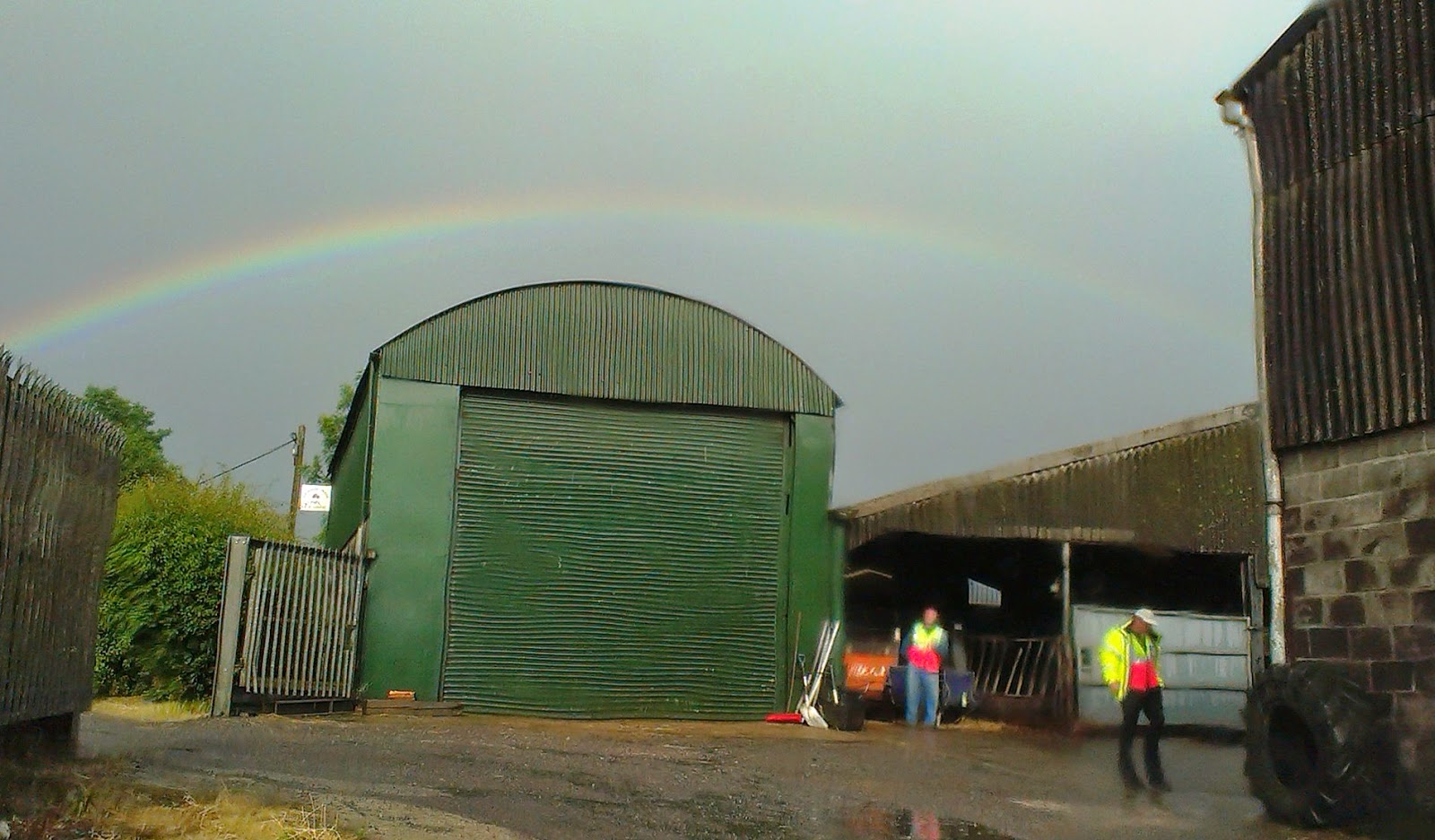 Rainbow over Pilton