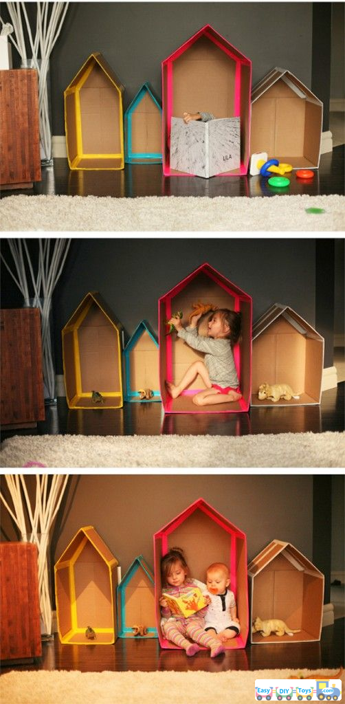 simple guides for homemade paper toy houses