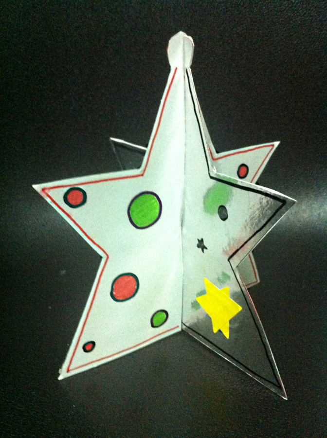 Craft with jack christmas 3d star for 3d star christmas decoration