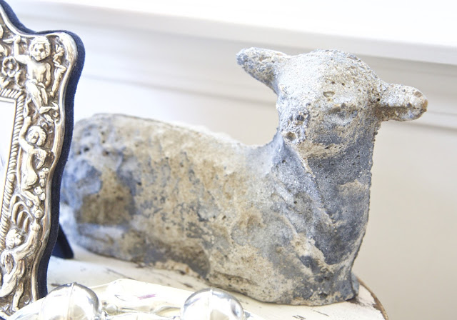 Side table with concrete lamb; Baby nursery; Nursery in the Nest; Nora's Nest
