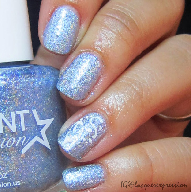 Swatch and review of No One Elsa but You nail polish by Different Dimension