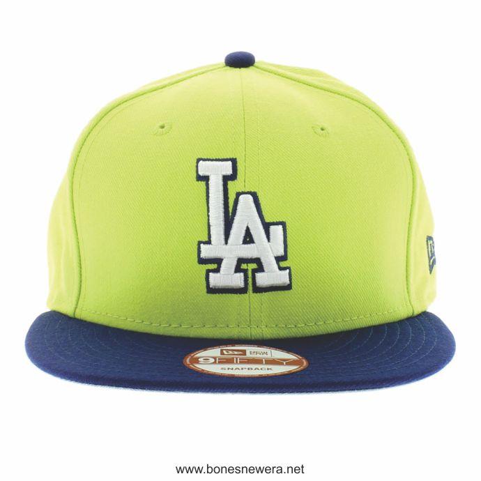 Boné New Era LA Dodgers Verde Lima, Azul Marinho Snapback