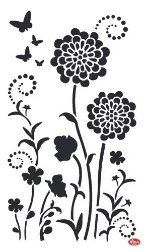 Descarga plantillas para decorar paredes como vinilos el - Plantillas de decoracion ...