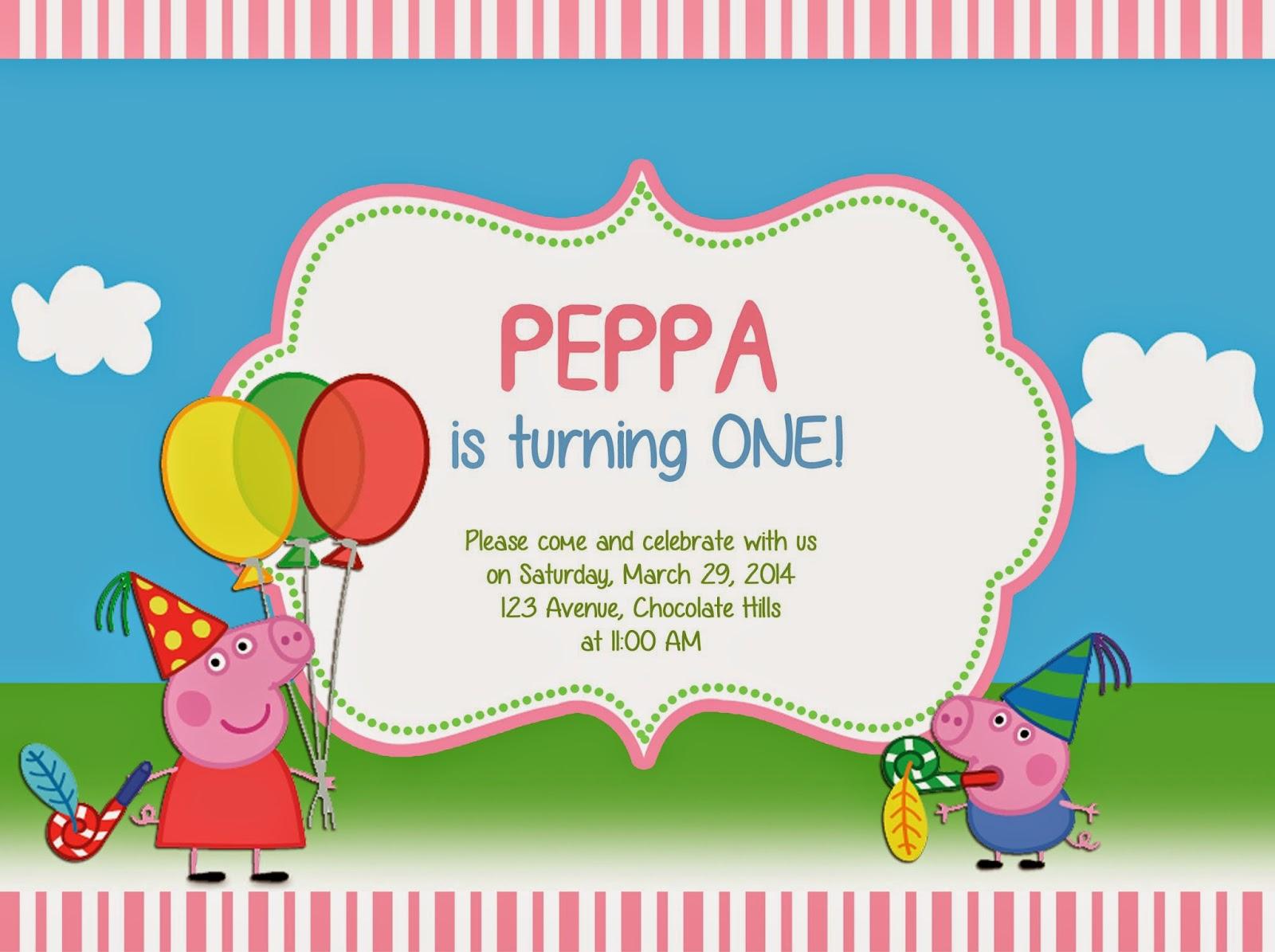 I Make I Share: Peppa Pig Invitation