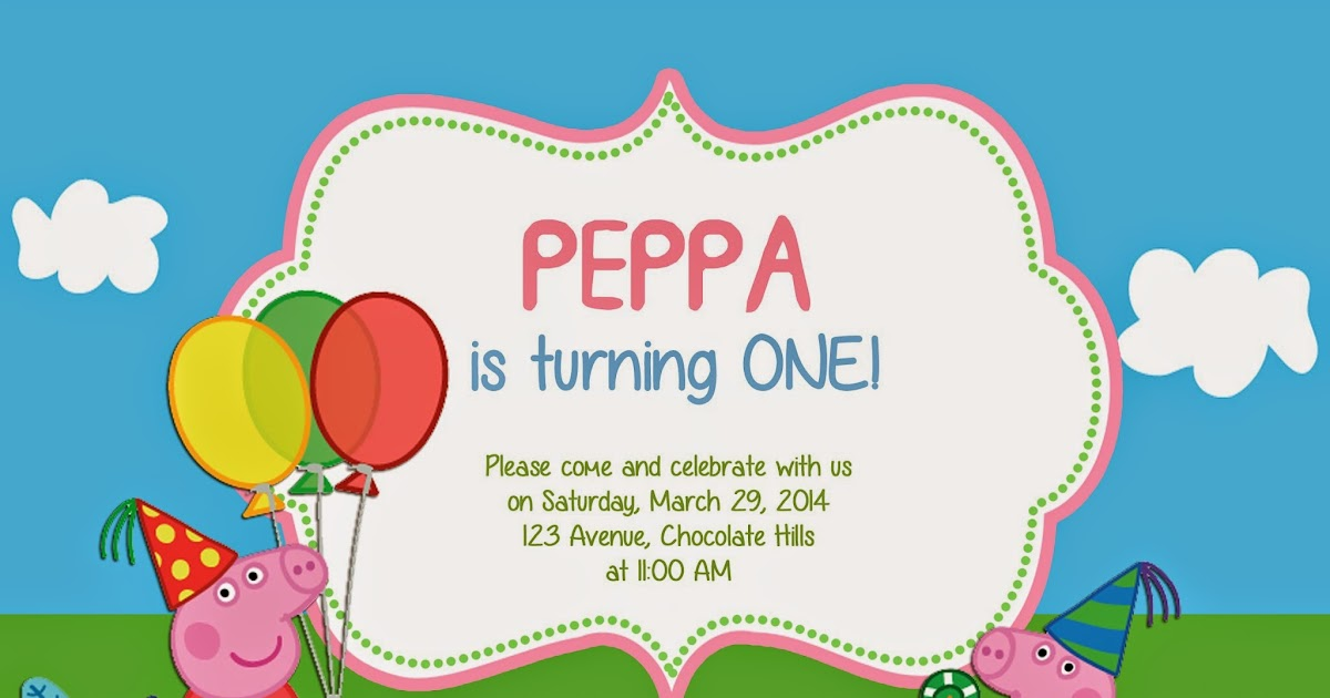 Make I Share: Peppa Pig Invitation