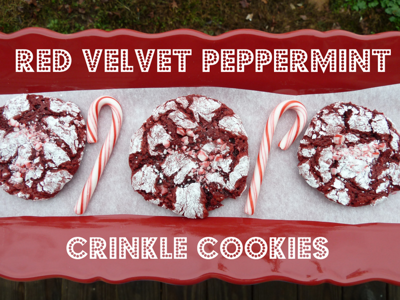 Cookin' Cowgirl: Red Velvet Peppermint Crinkle Cookies
