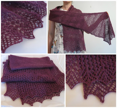 Northumbria lace scarf knitting pattern