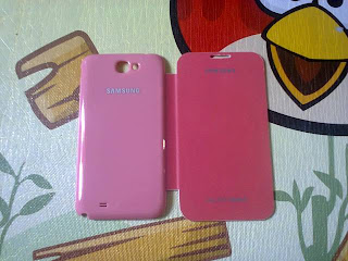Leather Case Flip Cover Samsung Galaxy Note II GT N7100 Magenta