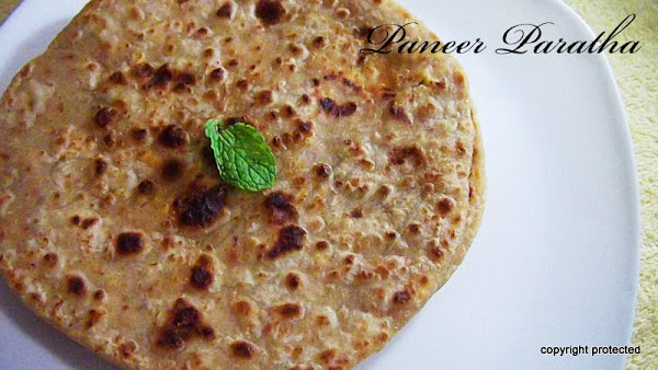 paneer paratha, cottage cheese paratha