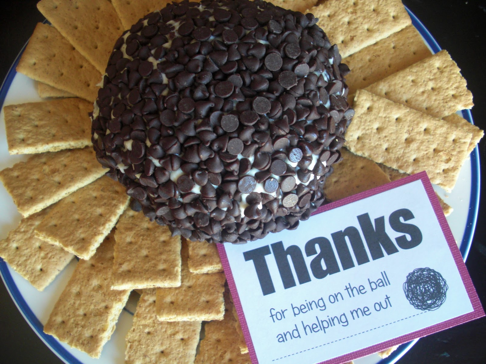 Utah County Mom: Chocolate Chip Cheeseball Gift - Free Printable ...