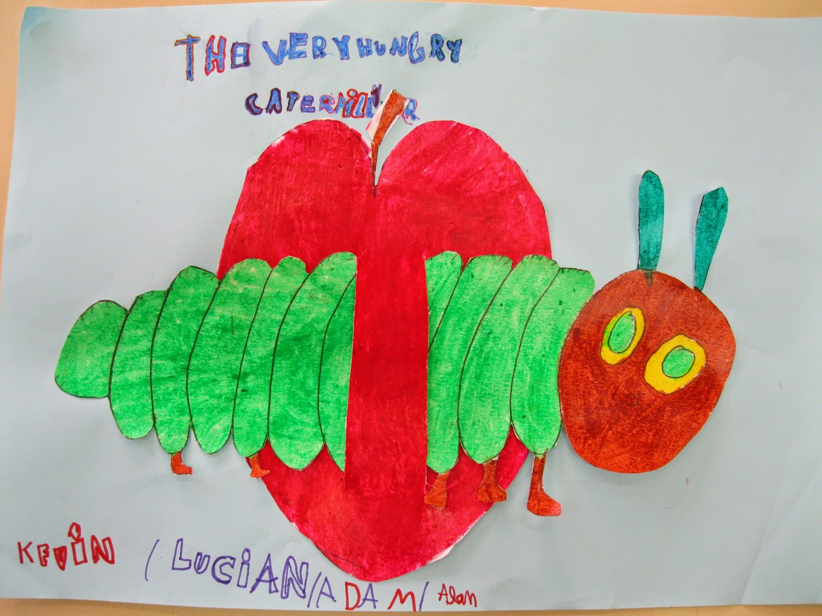 March arts and crafts - This Is The Very Hungry Caterpillar He Was So Hungry That On Monday He Ate Through Some Apples