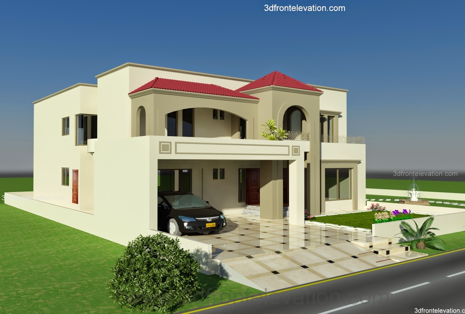 kanal plot house design europen style in bahria town lahore