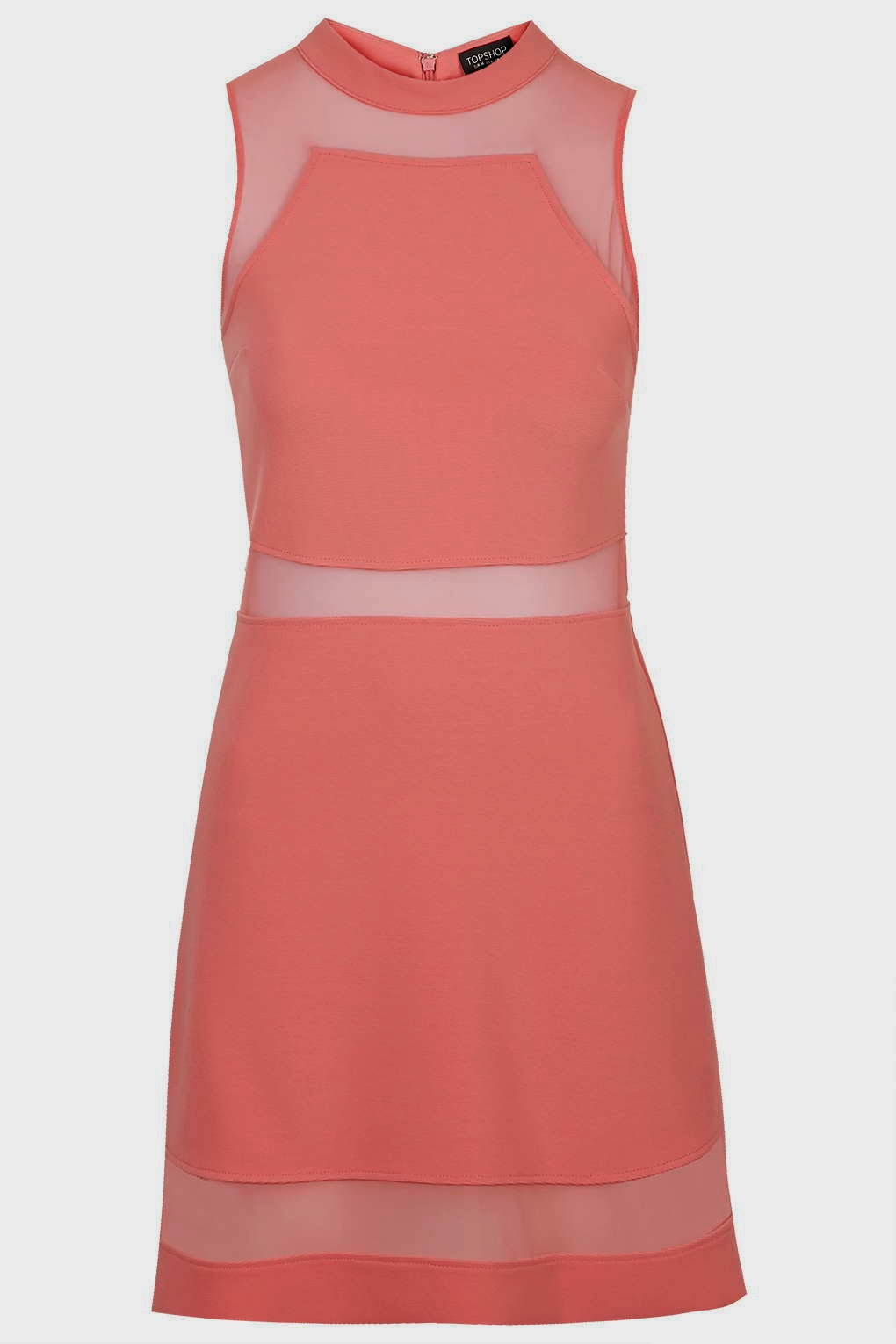 coral sundress, topshop coral dress,