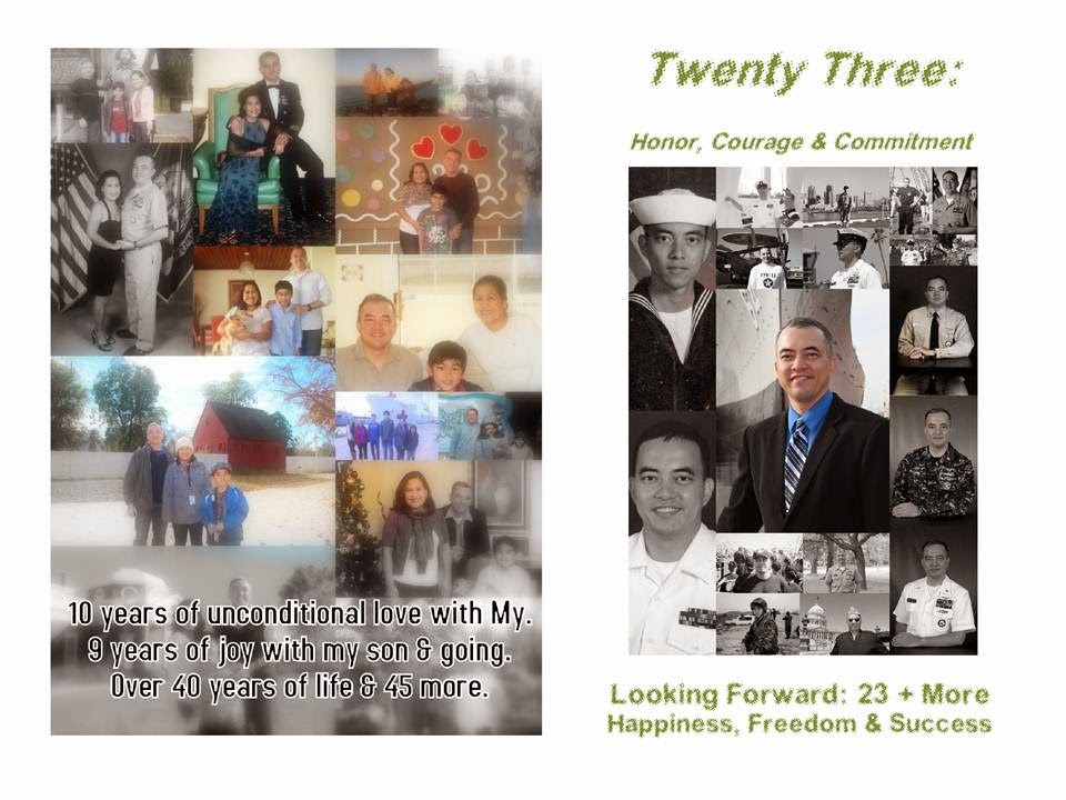 23 Years - The Retirement Program for Navy Counselor Chief Astro:  April 25, 2014