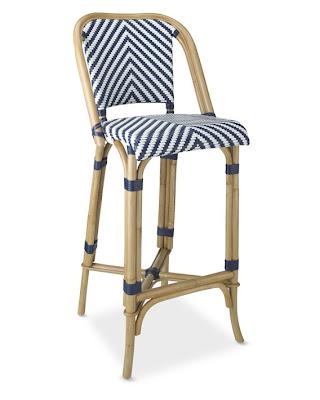Williams Sonoma Parisian Bistro Woven Barstool Decor