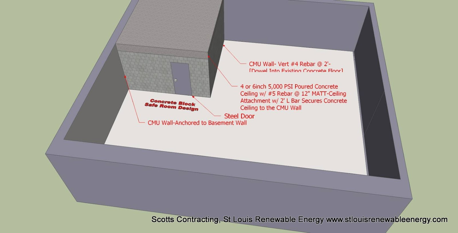 tornado safe room cad designs for the diy people scotts