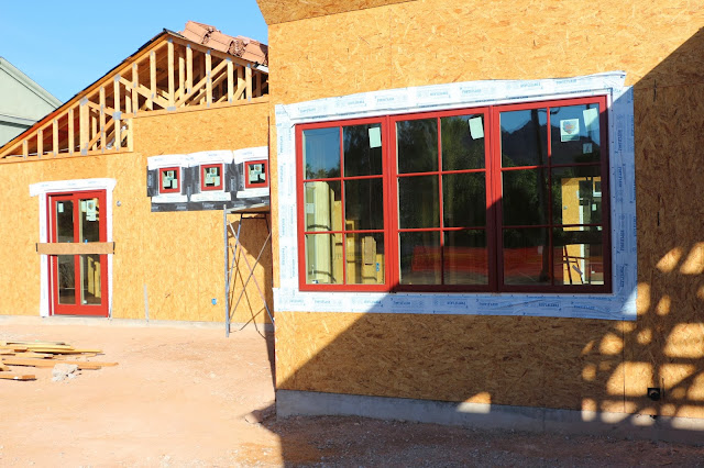 weathershield windows and doors brick red, brick red weather shield windows, casement windows