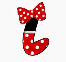 Alfabeto de personajes Disney con letras grandes L Minnie.
