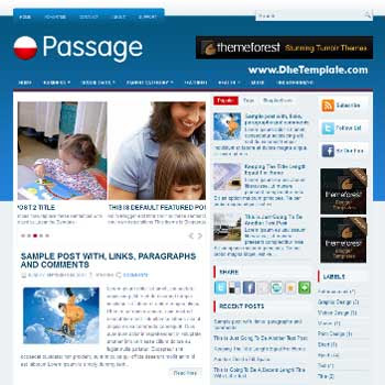 Passage blog template. template blogger with magazine style template. template blogger with image slider template. template blogger with 3 column footer