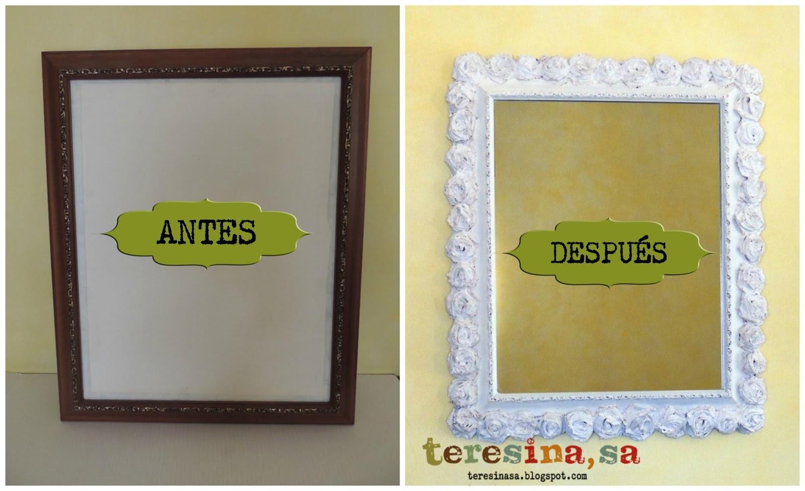 Teresina s a manualidades marcos for Pintar marco espejo