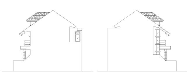 Desain Rumah 2 Lantai Luas Tanah 10x11 Meter Nampak Samping