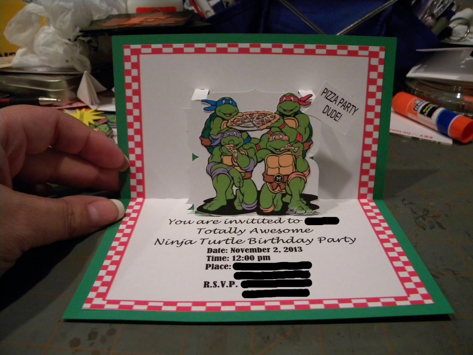 Teenage Mutant Ninja Turtles Invitations was perfect invitation layout