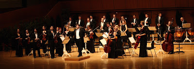 Wide Photo of philharmonic orchestra