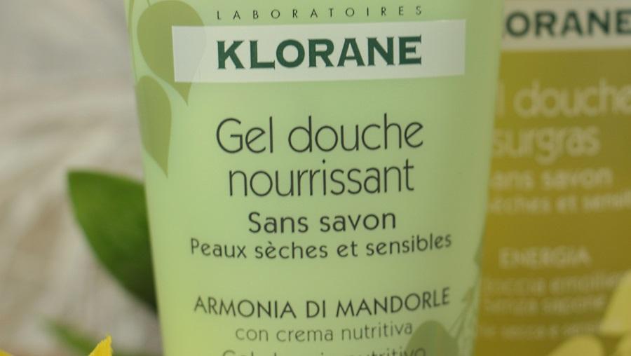 gel douche nourrissant klorane secret d'amandier