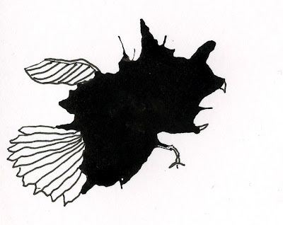 ink blot monster drawing