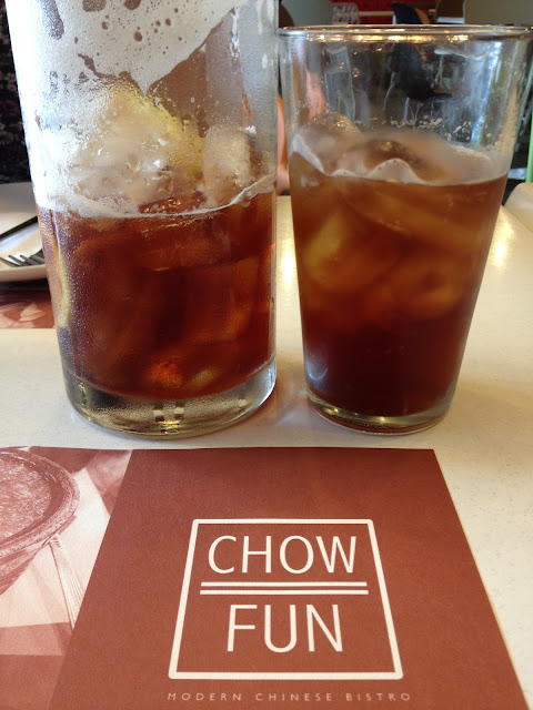 Peach Peppermint Iced Tea, Chow Fun