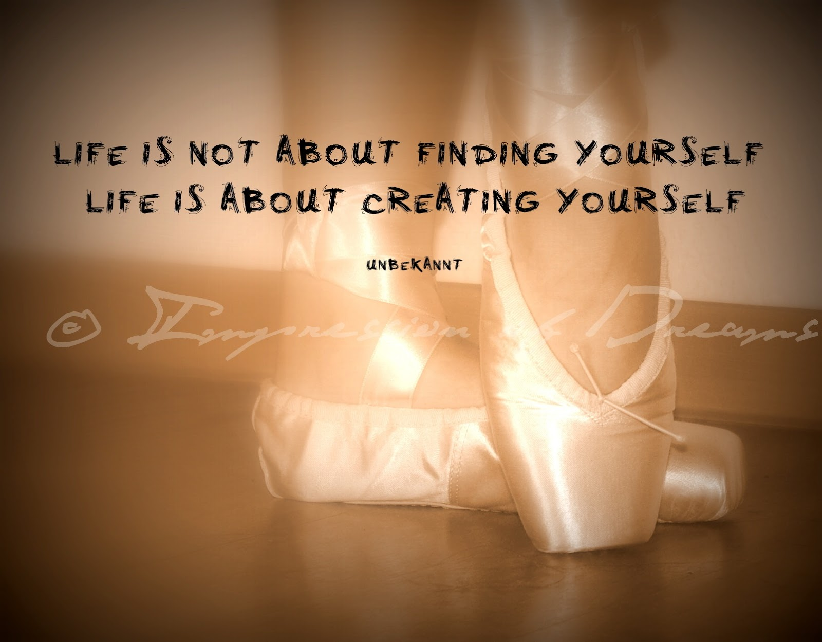 Life is not about finding yourself. Life is about creating yourself.