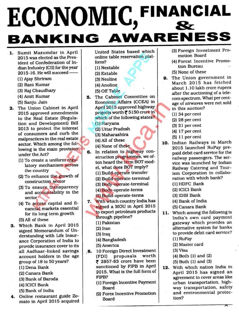 banking awareness Banking awareness questions and answers pdf banking quiz for ibps, sbi, rrb, po, clerk 2018 in hindi & english.