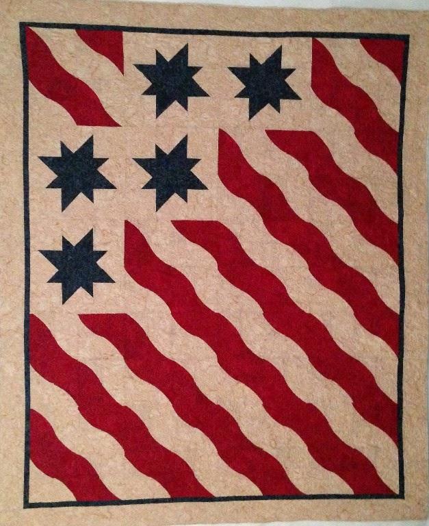 Leanne Strum American Flag Quilt