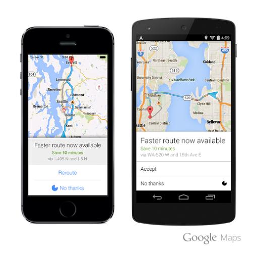 Google Maps se actualizará incluyendo cambios de ruta según el tráfico