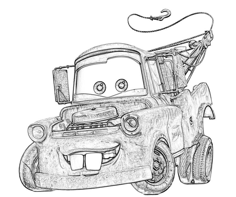 coloring pages mater truck videos - photo#19