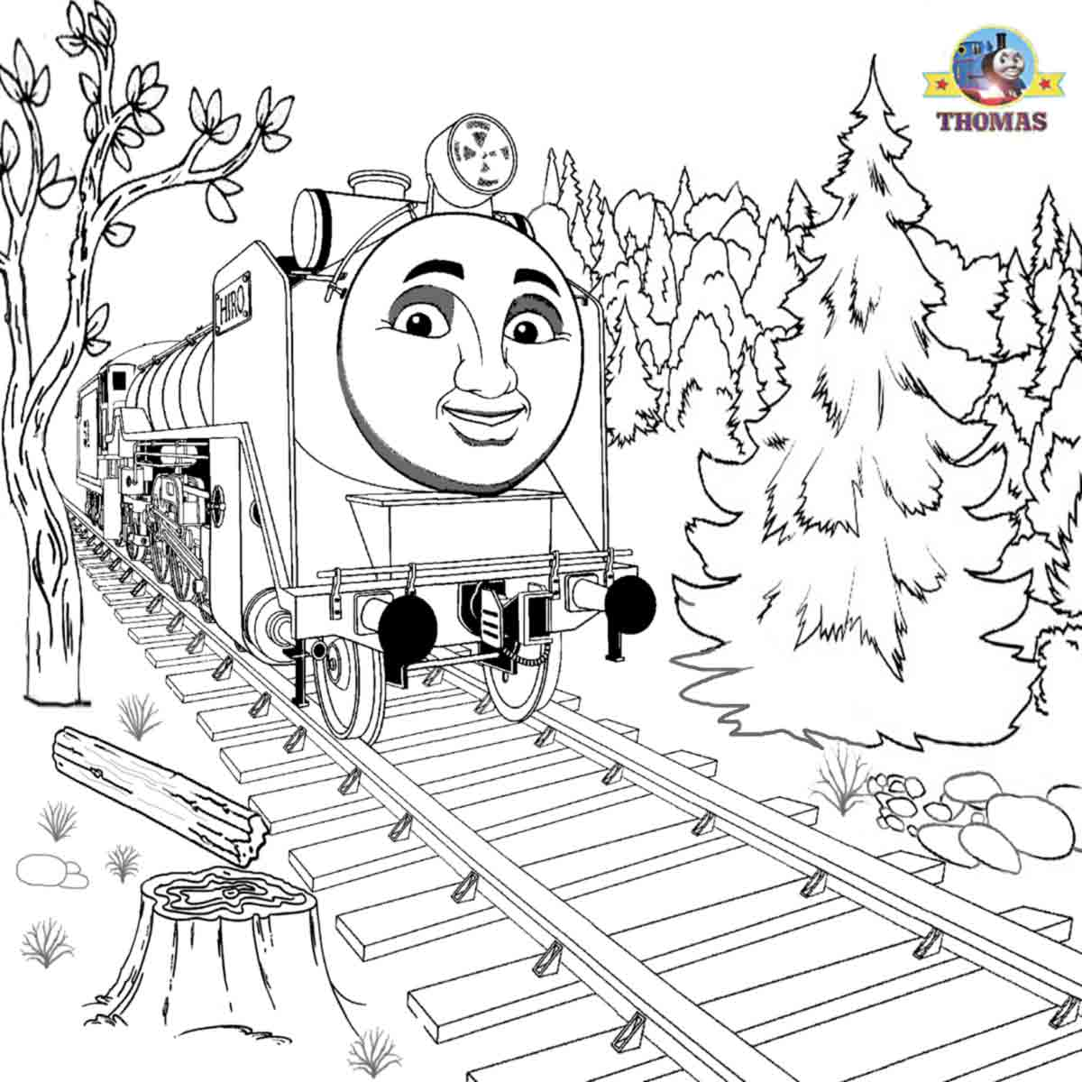 Thomas the train coloring sheets printable - Fun Railroad Transport Clip Art Free Cartoons For Boys Thomas Hiro Coloring Book Printables To Color