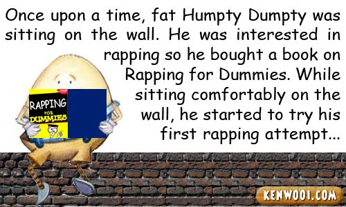 humpty dumpty reading