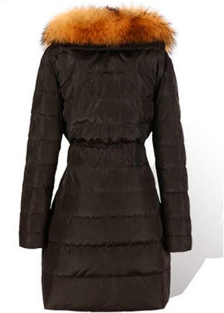 Abrigo con Cuello de Piel Sintetica, Cintura Alta y Botones en Pecho